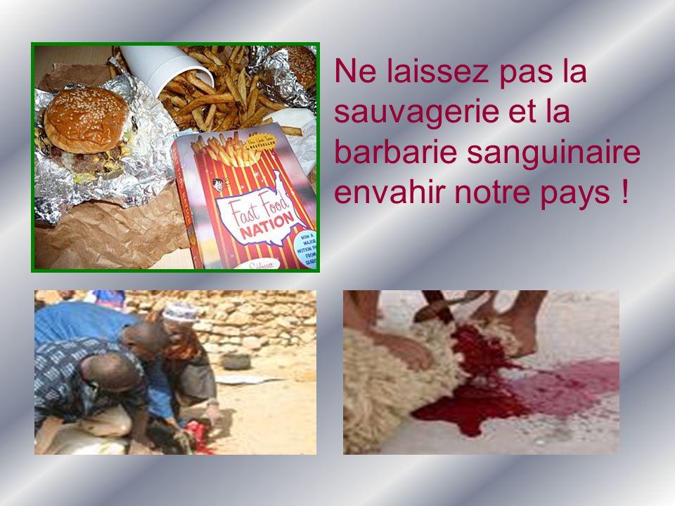 Ne laissez pas la sauvagerie et la barbarie sanguinaire envahir notre pays !