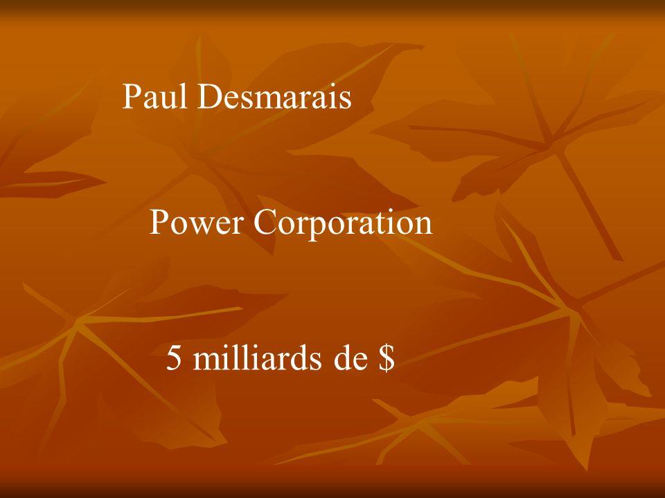 Paul 1 er Desmarais Gelco Gesca Financière Power Power Corporation Total Great West Life Investors GDF Suez GNL Financière IGM London Life Parjointco CITIC Canada Life