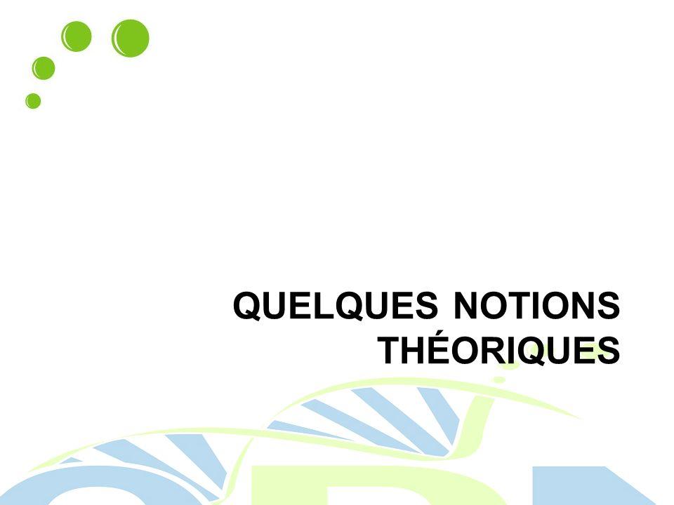 QUELQUES NOTIONS THÉORIQUES