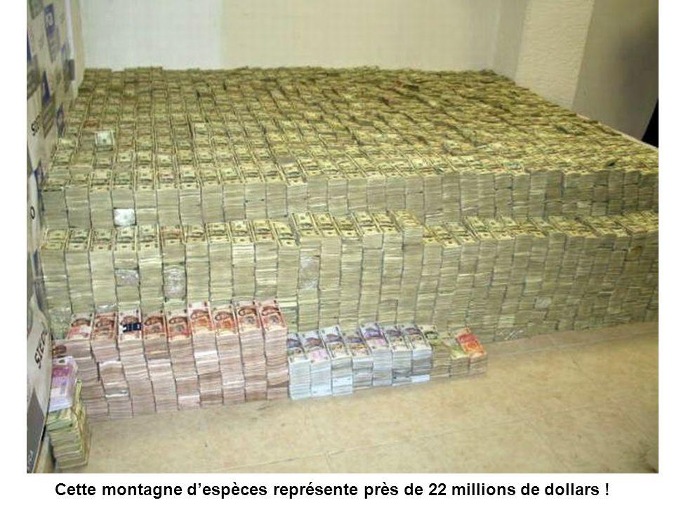 Cette montagne despèces représente près de 22 millions de dollars !