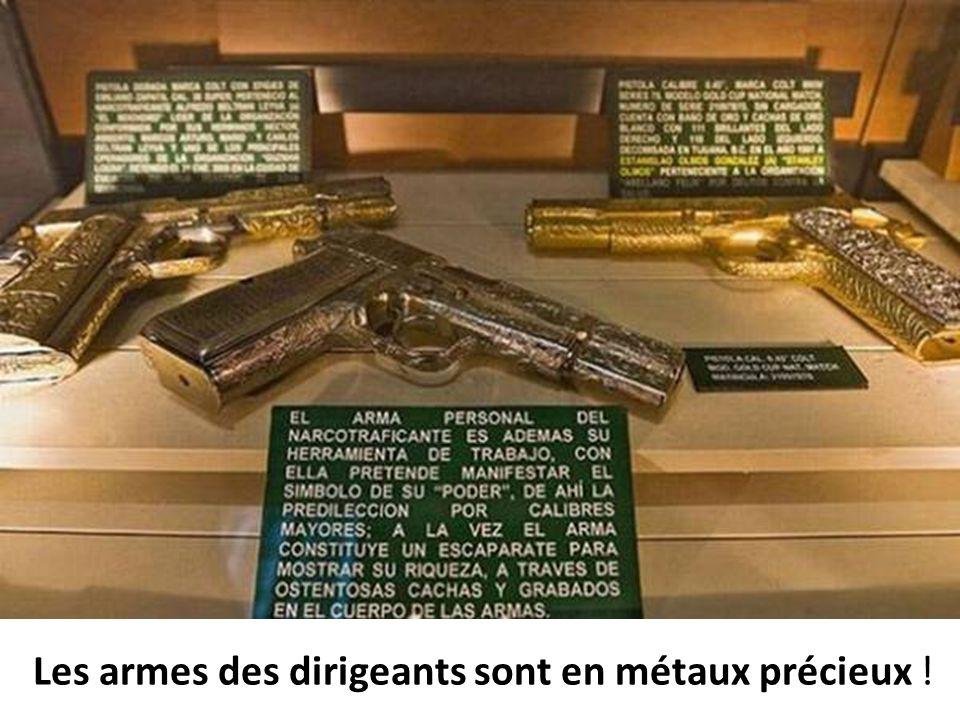Les armes des dirigeants sont en métaux précieux !