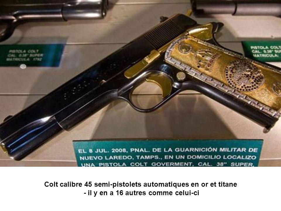 Colt calibre 45 semi-pistolets automatiques en or et titane - il y en a 16 autres comme celui-ci