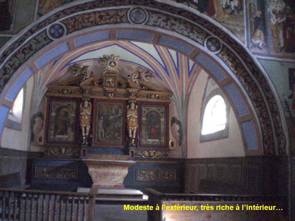 Construite par un paroissien épargné par la peste, entre 1446 et 1518.