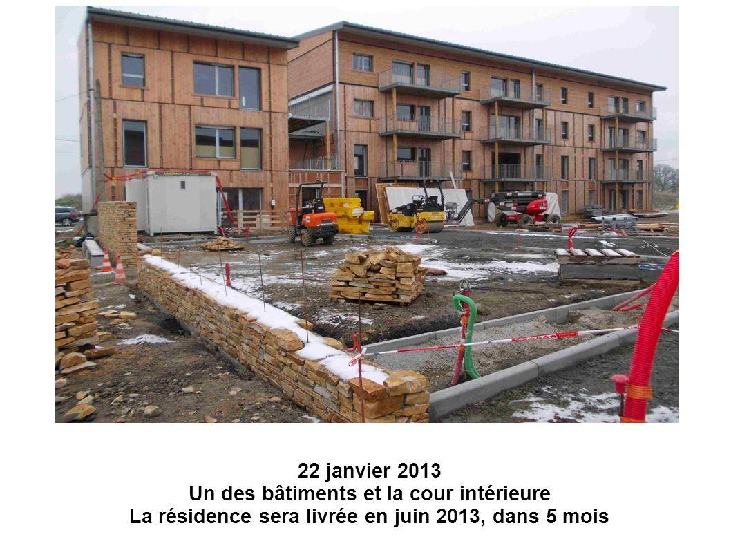 Début janvier 2013 – Bât.F1 et F2 côté rue du Chêne Belot.