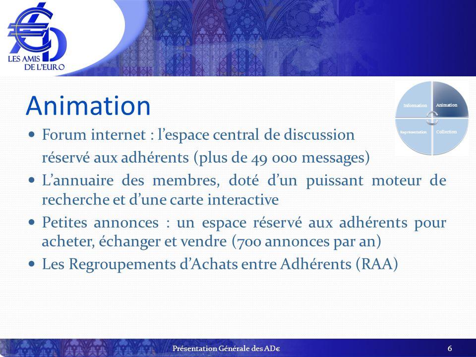 Animation Forum internet : lespace central de discussion réservé aux adhérents (plus de 49 000 messages) Lannuaire des membres, doté dun puissant mote
