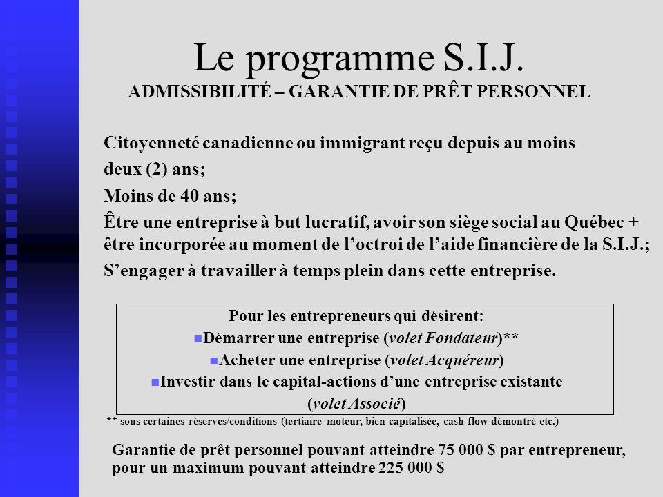 Le programme S.I.J.