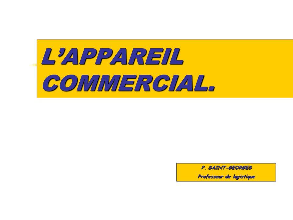 LAPPAREIL COMMERCIAL. P. SAINT-GEORGES Professeur de logistique