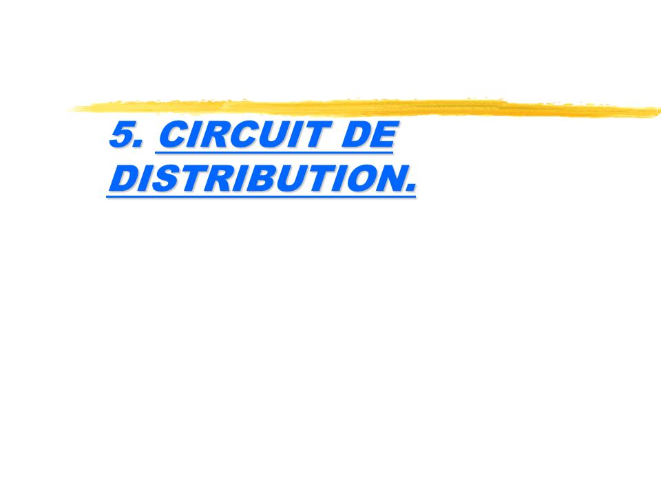 5. CIRCUIT DE DISTRIBUTION.