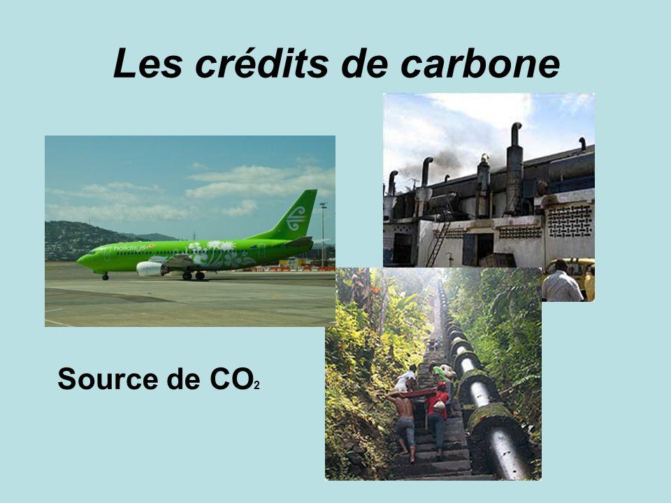 Les crédits de carbone Source de CO 2
