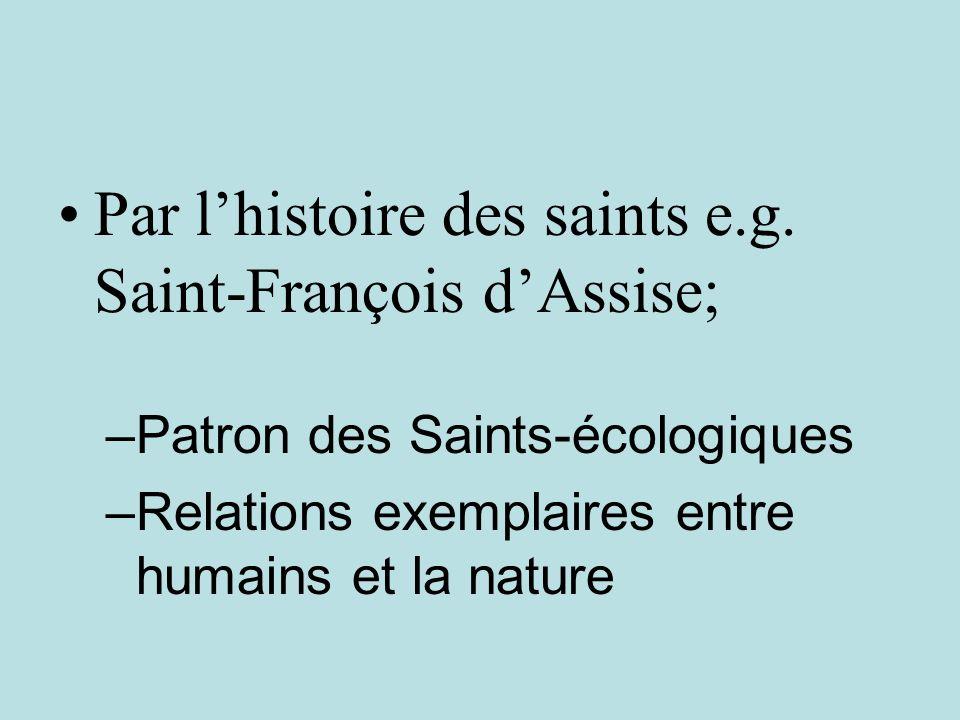 Par lhistoire des saints e.g.