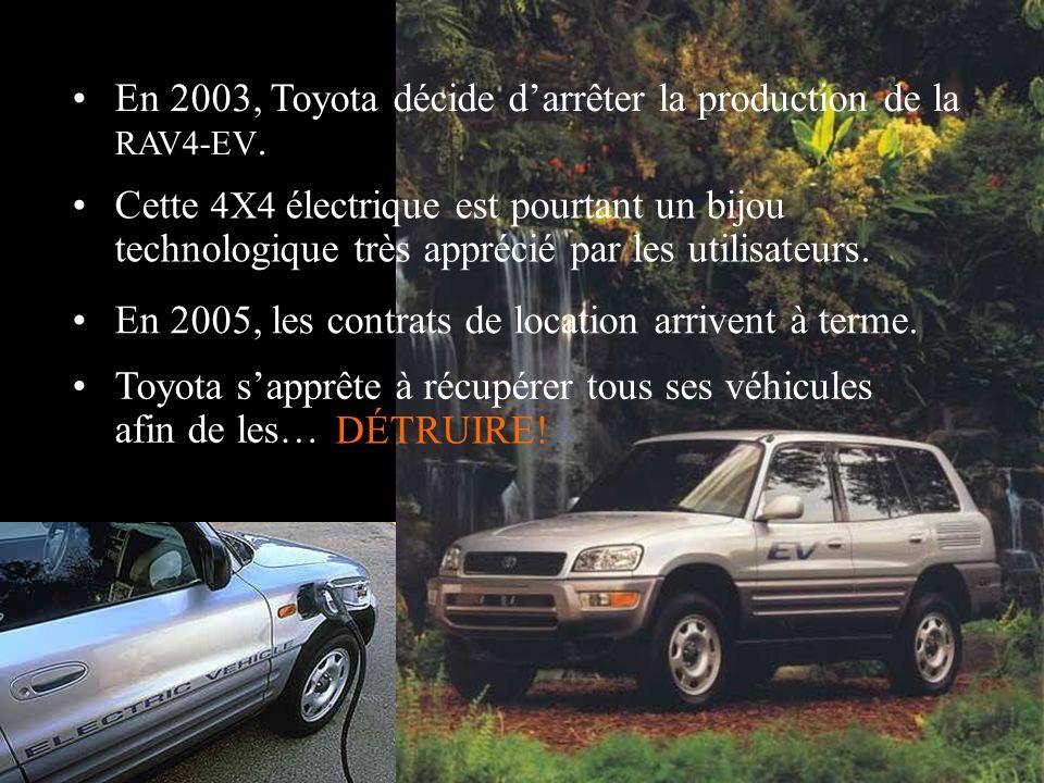 La ville de Pasadena essaie de racheter les véhicules mais Nissan refuse, récupère ses voitures et … les DÉTRUIT! En Août 2006, le contrat de location