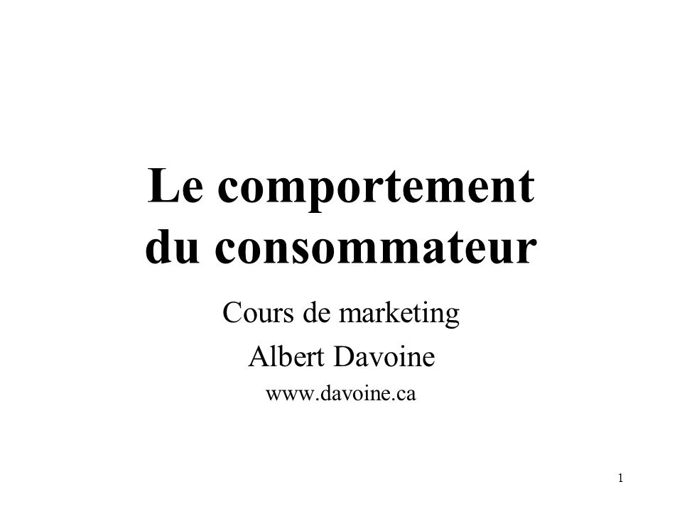 2 Comportement Variable de la demande, relevant de la psychologie, de la sociologie et de léconomique.
