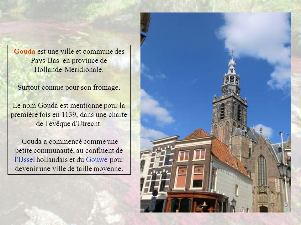 Gouda est une ville et commune des Pays-Bas en province de Hollande-Méridionale.