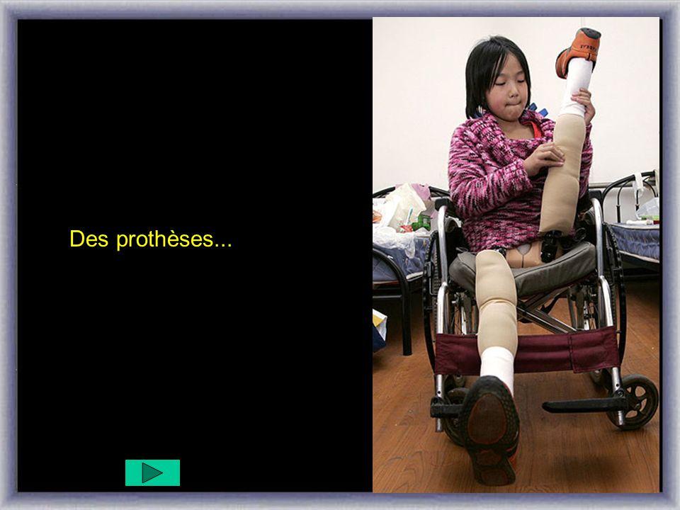 Avec ton aide, elle pourra avoir une paire de jambes.