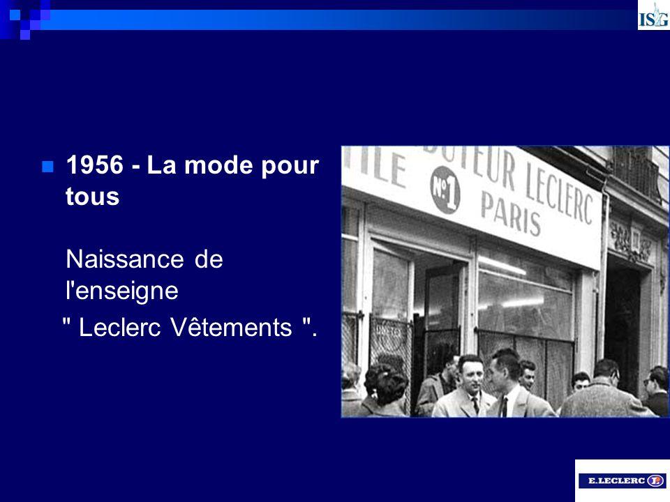 1956 - La mode pour tous Naissance de l'enseigne