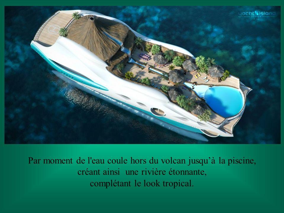 Oui !!! Une île entière construite sur un beau yacht. Créé par les concepteurs britanniques de Designs Island Yacht Company Le design comme vous pouve