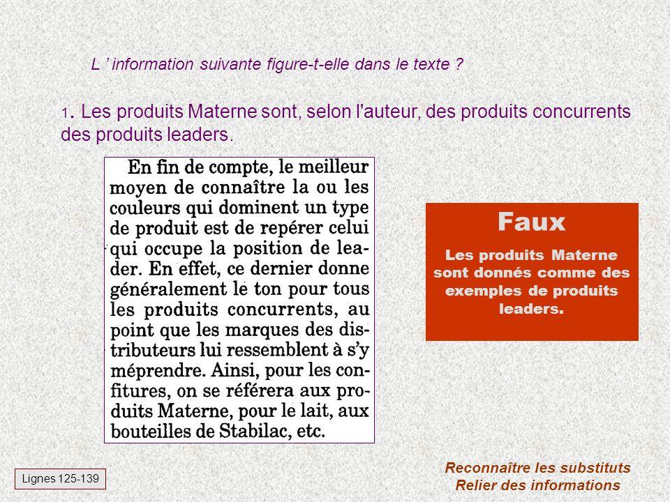 Des couleurs qui font vendre L. Raphael, La Libre Belgique, 22 mars 97. Corrigé du test de lecture