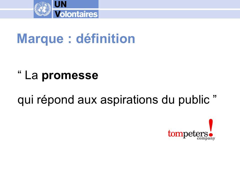 Marque : définition Une déclaration sur les aspirations voire les croyances.
