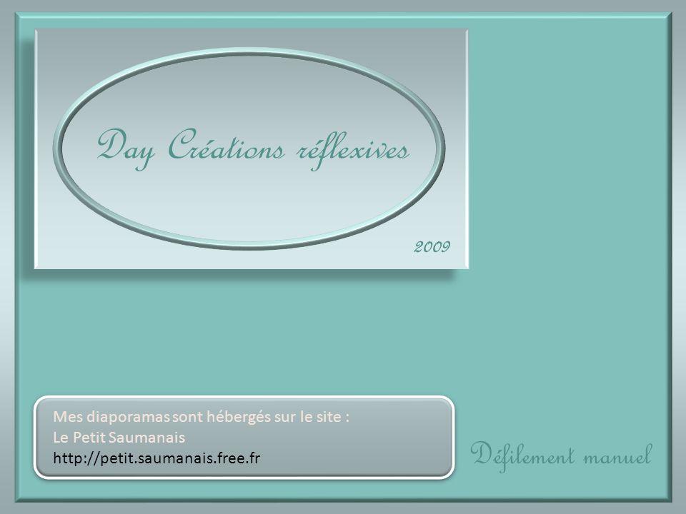 Day Créations réflexives Défilement manuel 2009 Mes diaporamas sont hébergés sur le site : Le Petit Saumanais http://petit.saumanais.free.fr