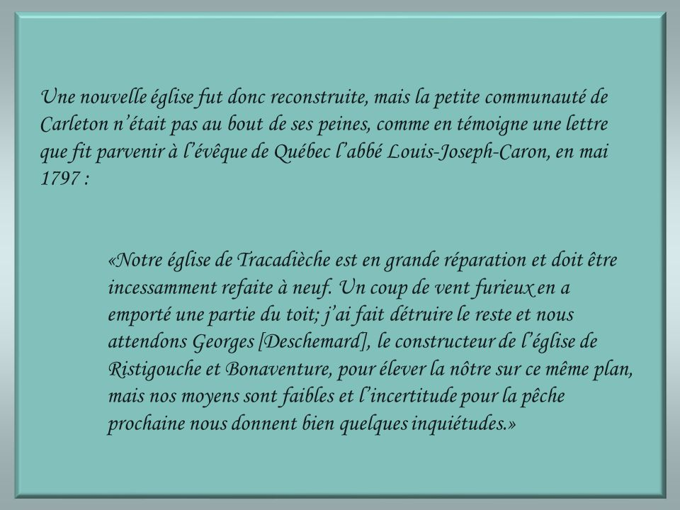 Documentation Michel Landry et Laval Lavoie, Histoire de Carleton ~ Tracadièche ~ 1766-1996, éd.