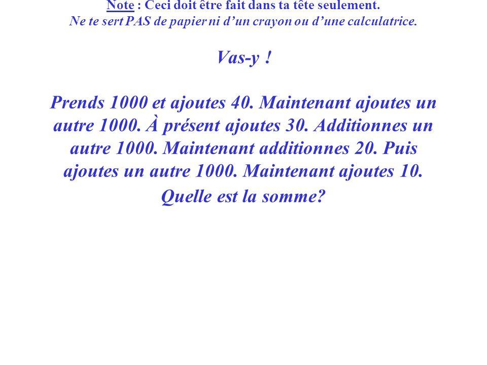 Troisième question : Troisième question : Des maths très truquées .