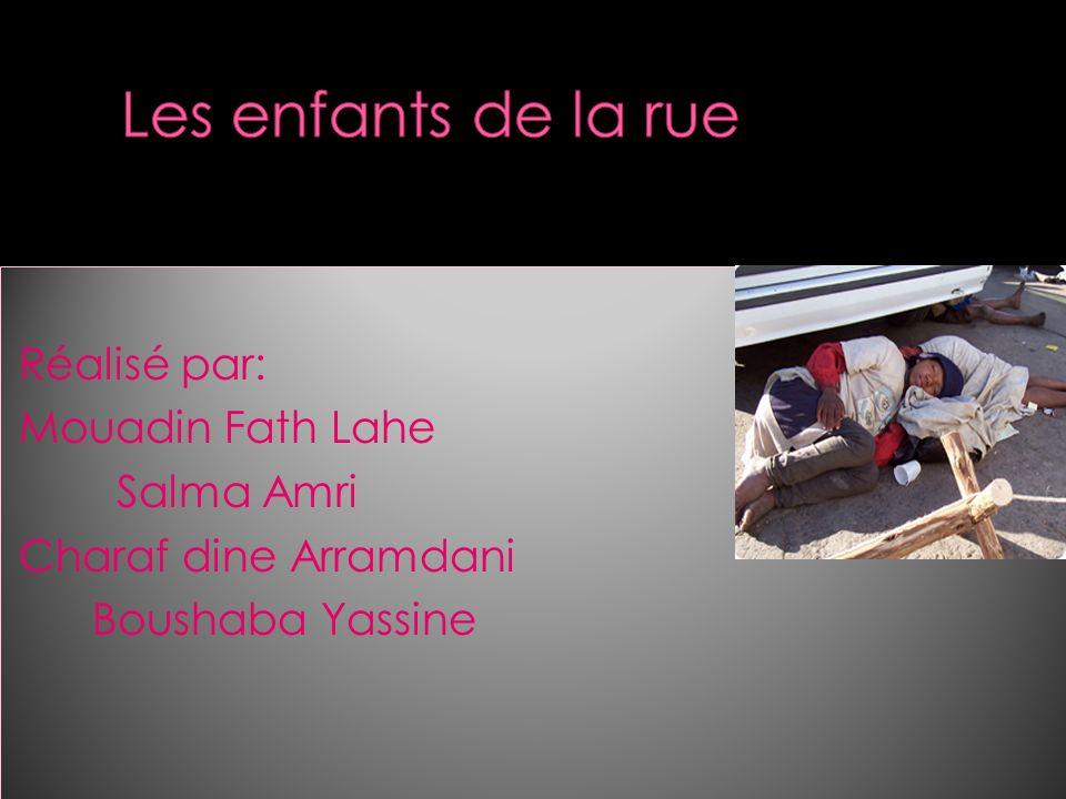 Réalisé par: Mouadin Fath Lahe Salma Amri Charaf dine Arramdani Boushaba Yassine