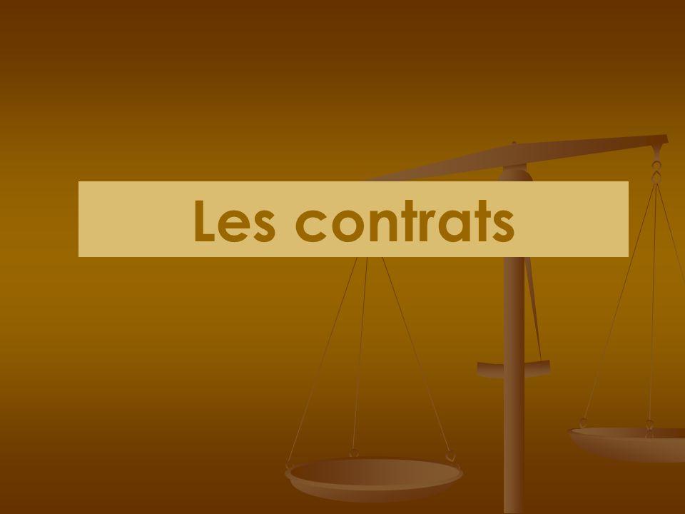 La durée des effets des contrats Exécution en une seule fois Contrat instantanéContrat successif Exécution qui sétale dans le temps