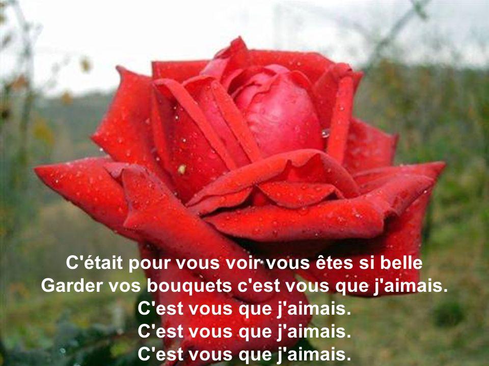 Je ne veux plus de roses mademoiselle Car mes rendez-vous n'existaient jamais