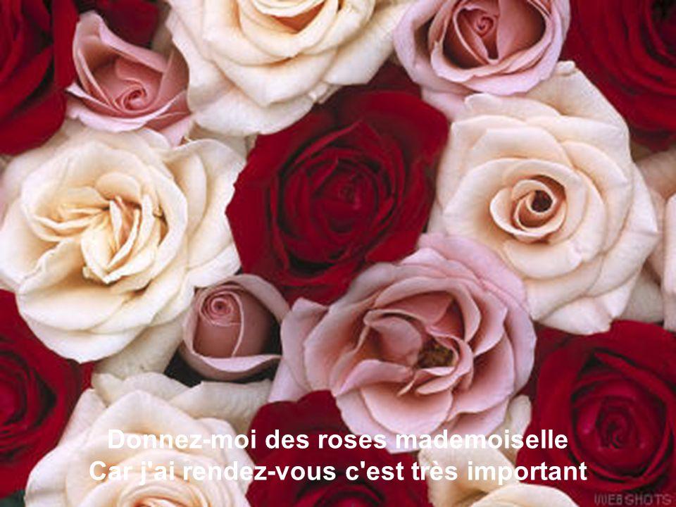 La fleuriste est jolie perdue dans son printemps Il n'est pas sur de lui quand il dit gentiment:
