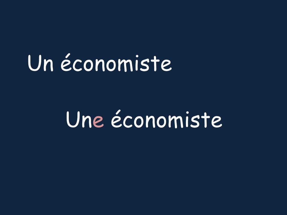 Un économiste Une économiste