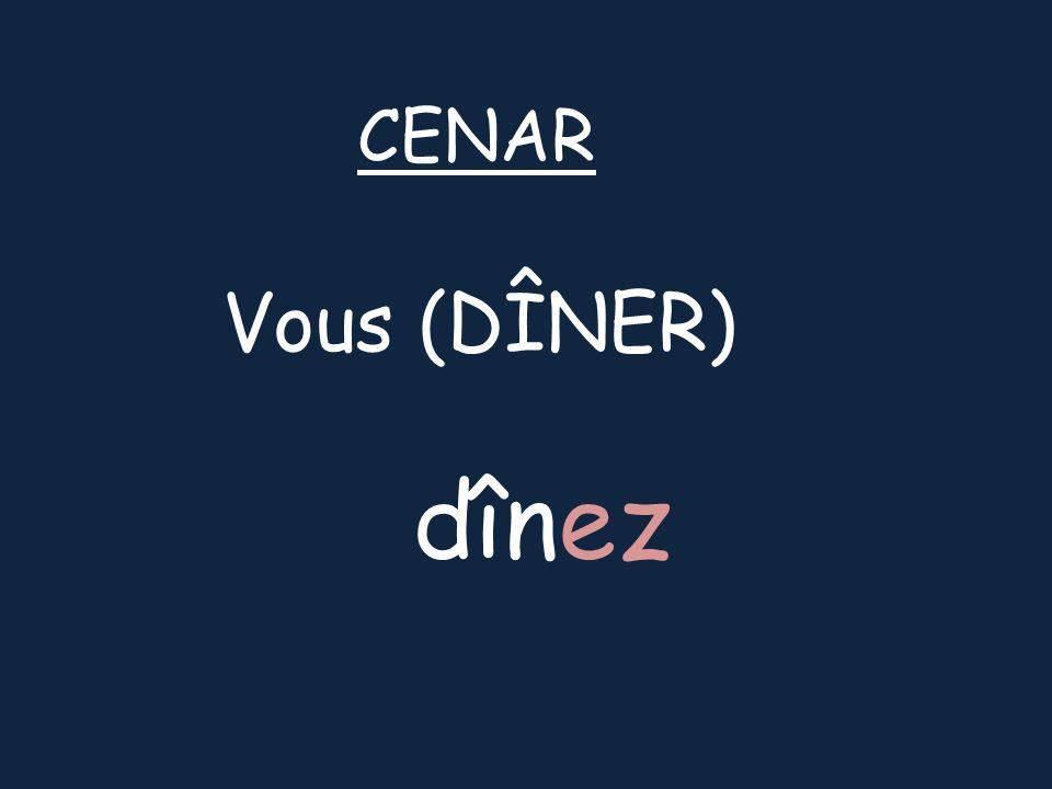 Vous (DÎNER) CENAR dînez