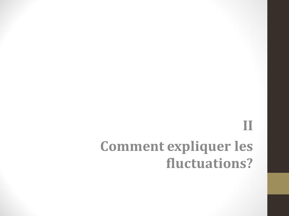 II Comment expliquer les fluctuations?