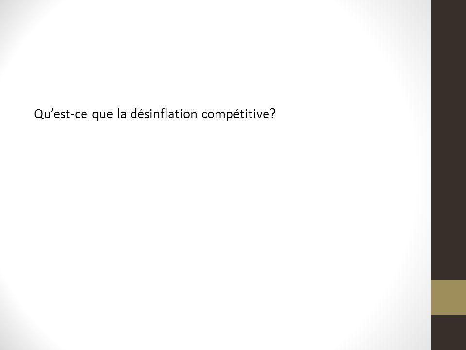 Quest-ce que la désinflation compétitive?