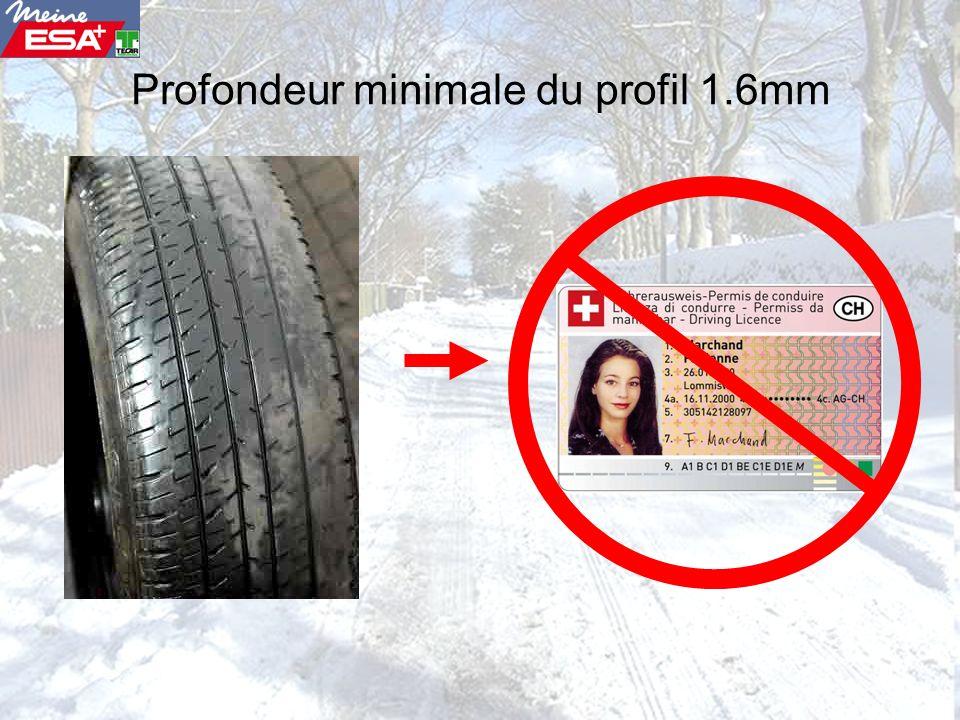 Profondeur minimale du profil 1.6mm