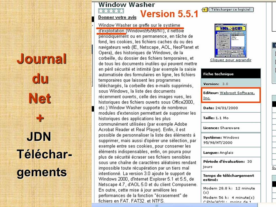 Journal du du Net Net + JDN JDNTéléchar-gements