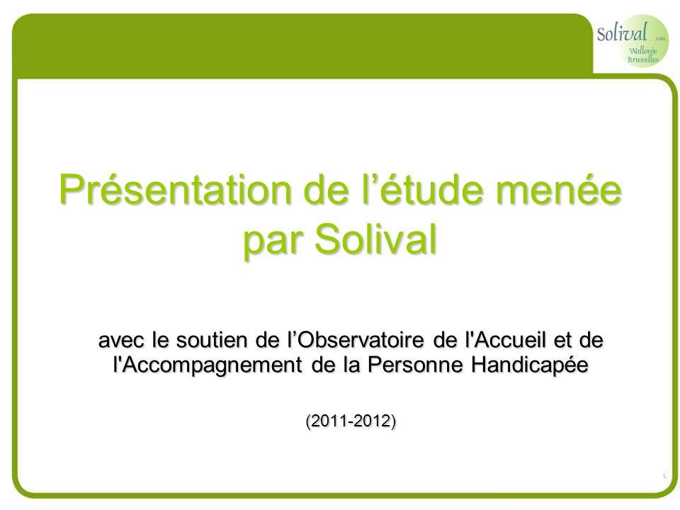 Présentation de létude menée par Solival avec le soutien de lObservatoire de l'Accueil et de l'Accompagnement de la Personne Handicapée (2011-2012)