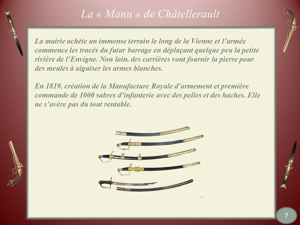 Châtellerault : la « manu » maintenant Le bâtiment destiné aux logements des Directeurs est devenu le Conservatoire de Musique Depuis avril 2011 27