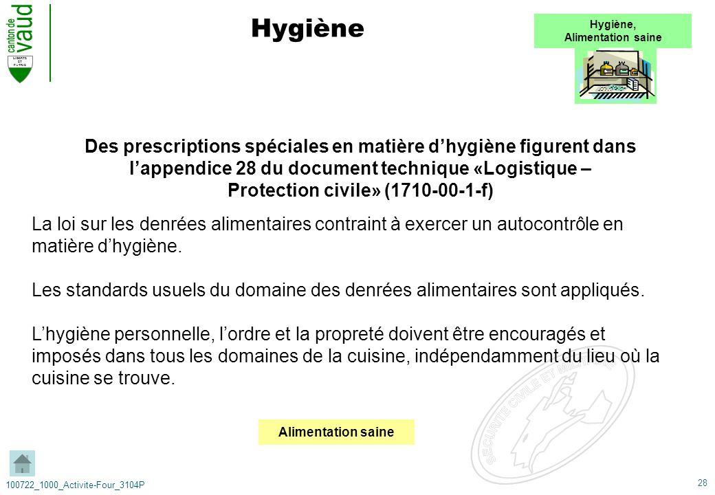 28 LIBERTE ET PATRIE 100722_1000_Activite-Four_3104P Hygiène La loi sur les denrées alimentaires contraint à exercer un autocontrôle en matière dhygiè