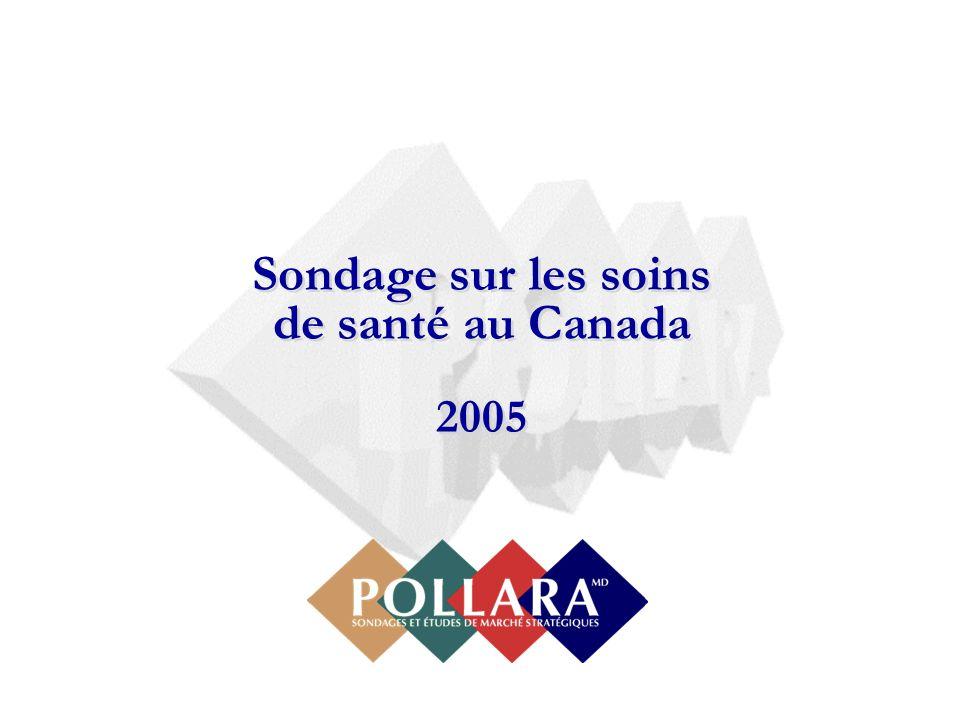 Sondage sur les soins de santé au Canada 2005 Sondage sur les soins de santé au Canada 2005