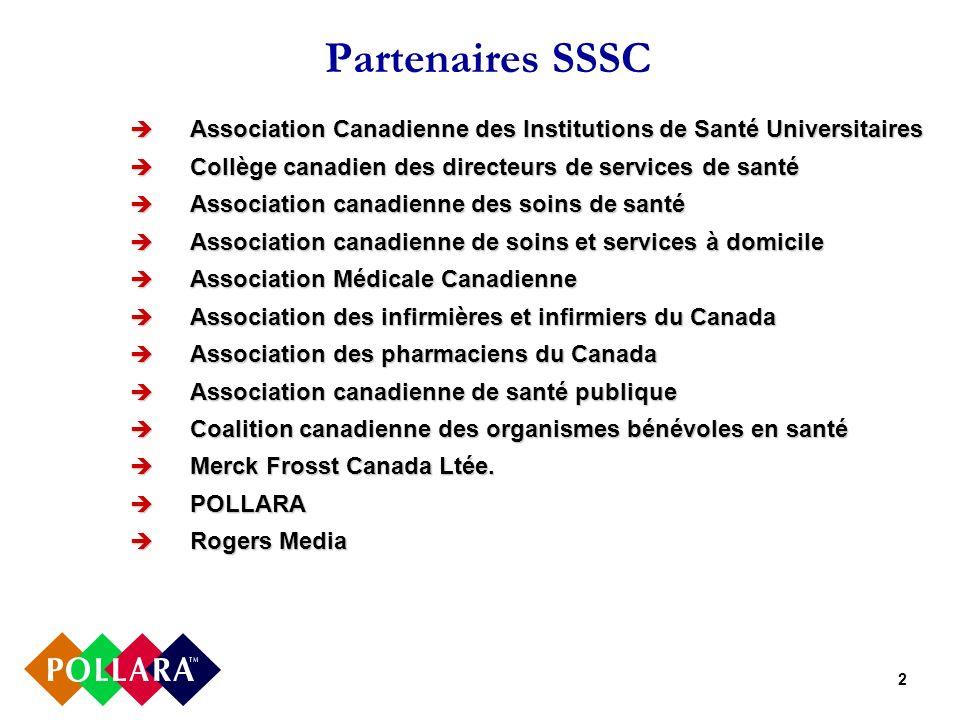 2 Partenaires SSSC Association Canadienne des Institutions de Santé Universitaires Association Canadienne des Institutions de Santé Universitaires Col