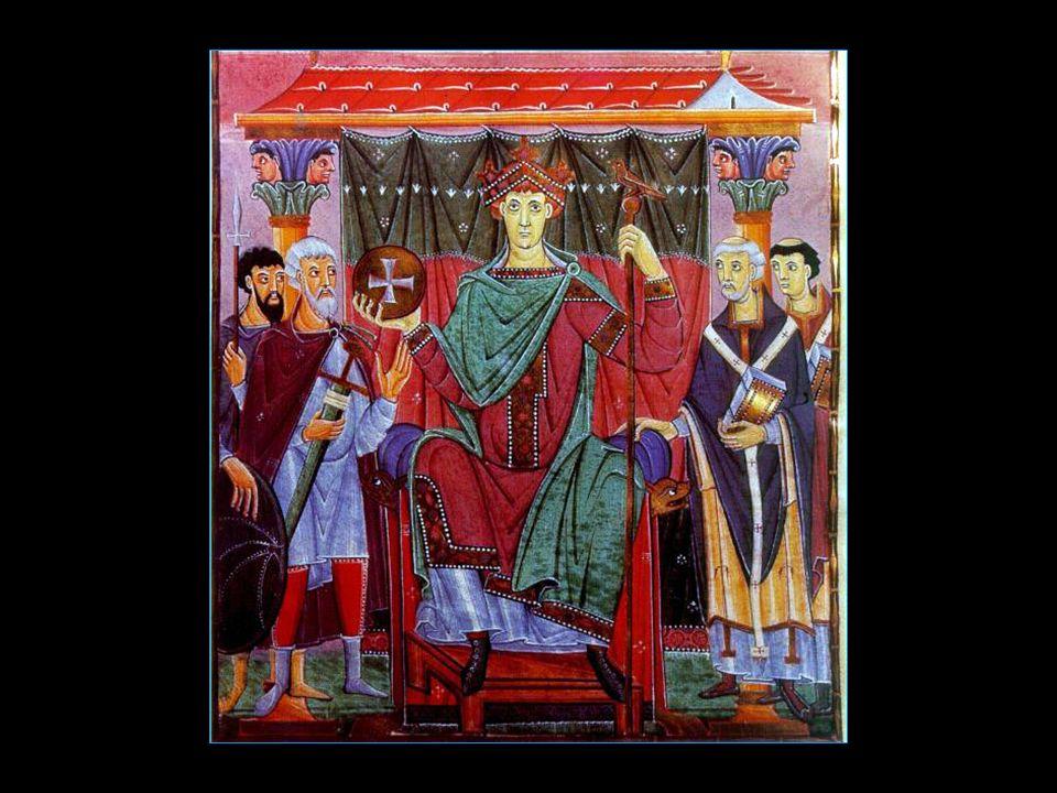 Sylvestre II à la droite de lempereur Otton III