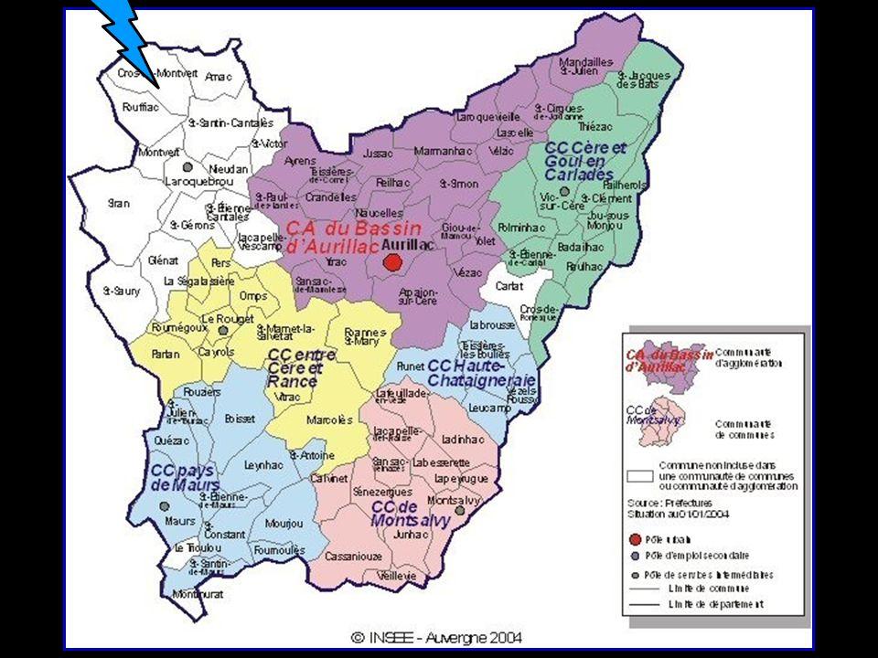 chef lieu du Département du Cantal