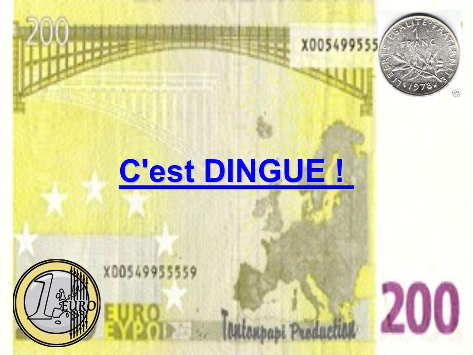 Conclusion : 4,30 euros La baguette qui coûte 4,30 euros coûte désormais : 4,34 FF4,31 FF 4,34 FF si vous l'achetez à l'unité et 4,31 FF 2... si vous