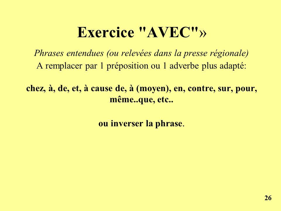 26 Exercice