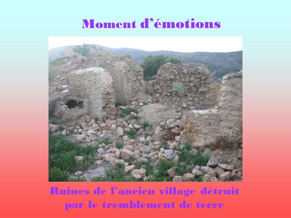 Moment démotions Ruines de lancien village détruit par le tremblement de terre