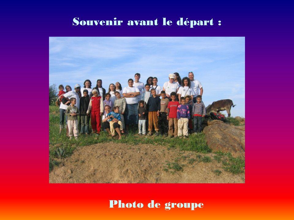 Souvenir avant le départ : Photo de groupe