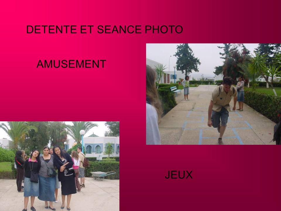 DETENTE ET SEANCE PHOTO AMUSEMENT JEUX