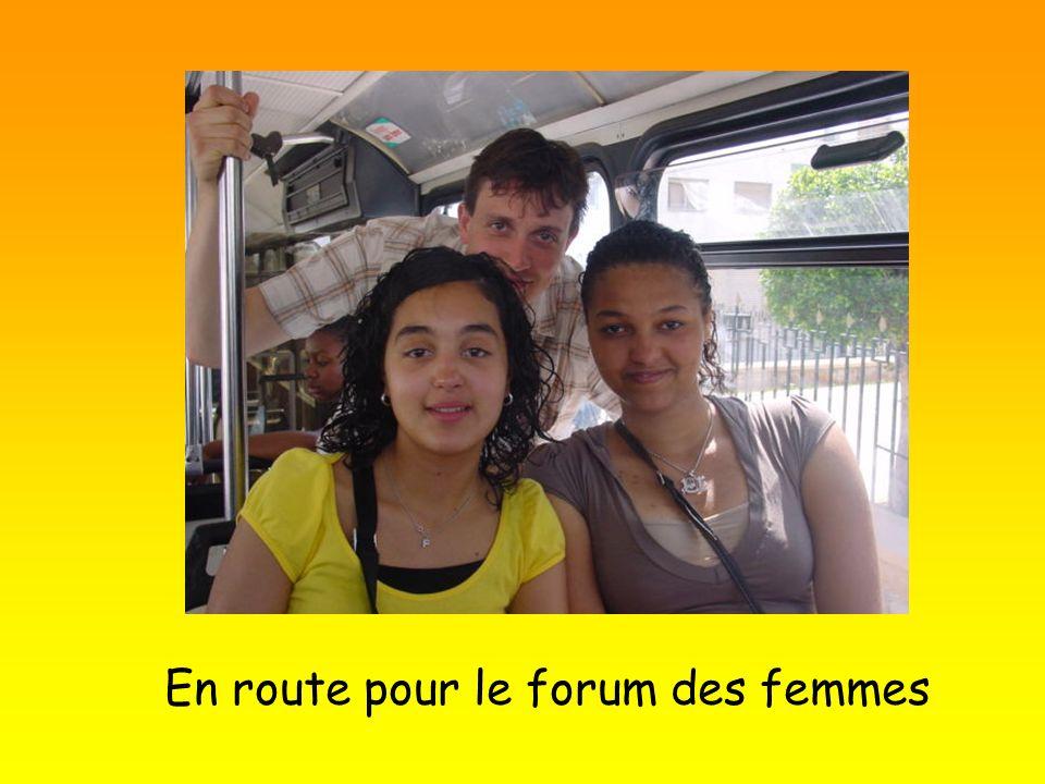 En route pour le forum des femmes