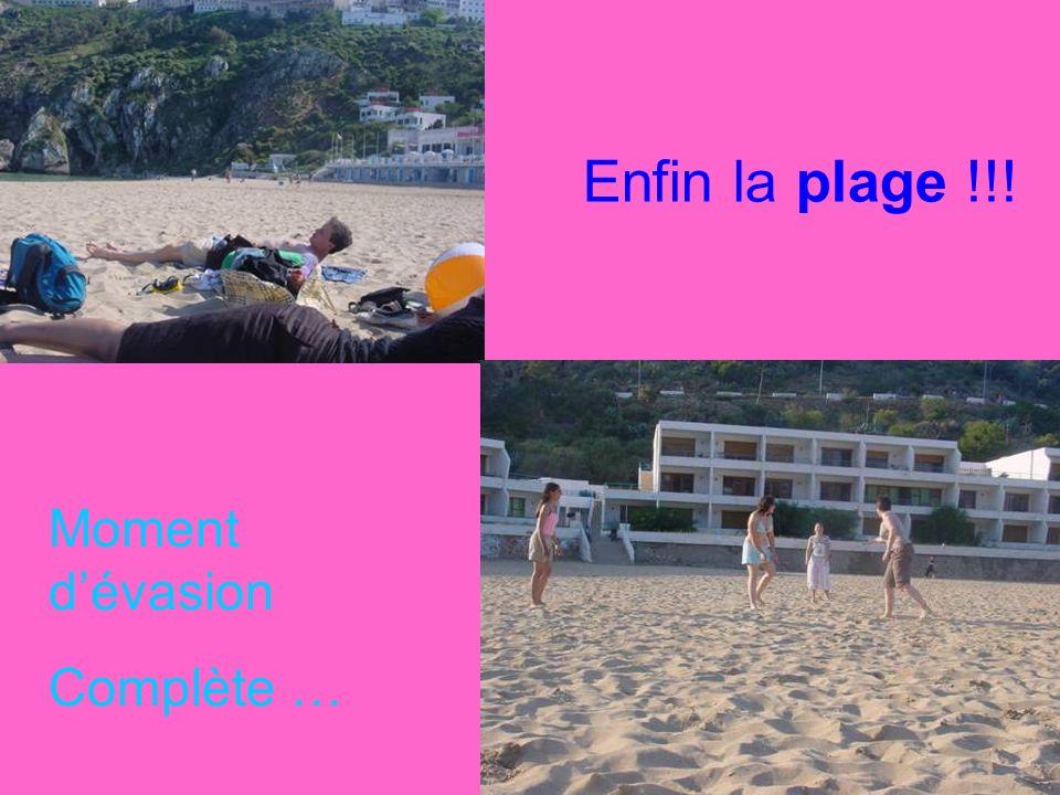 Enfin la plage !!! Moment dévasion Complète …