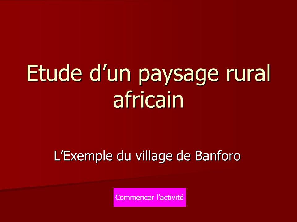 Etude dun paysage rural africain LExemple du village de Banforo Commencer lactivité